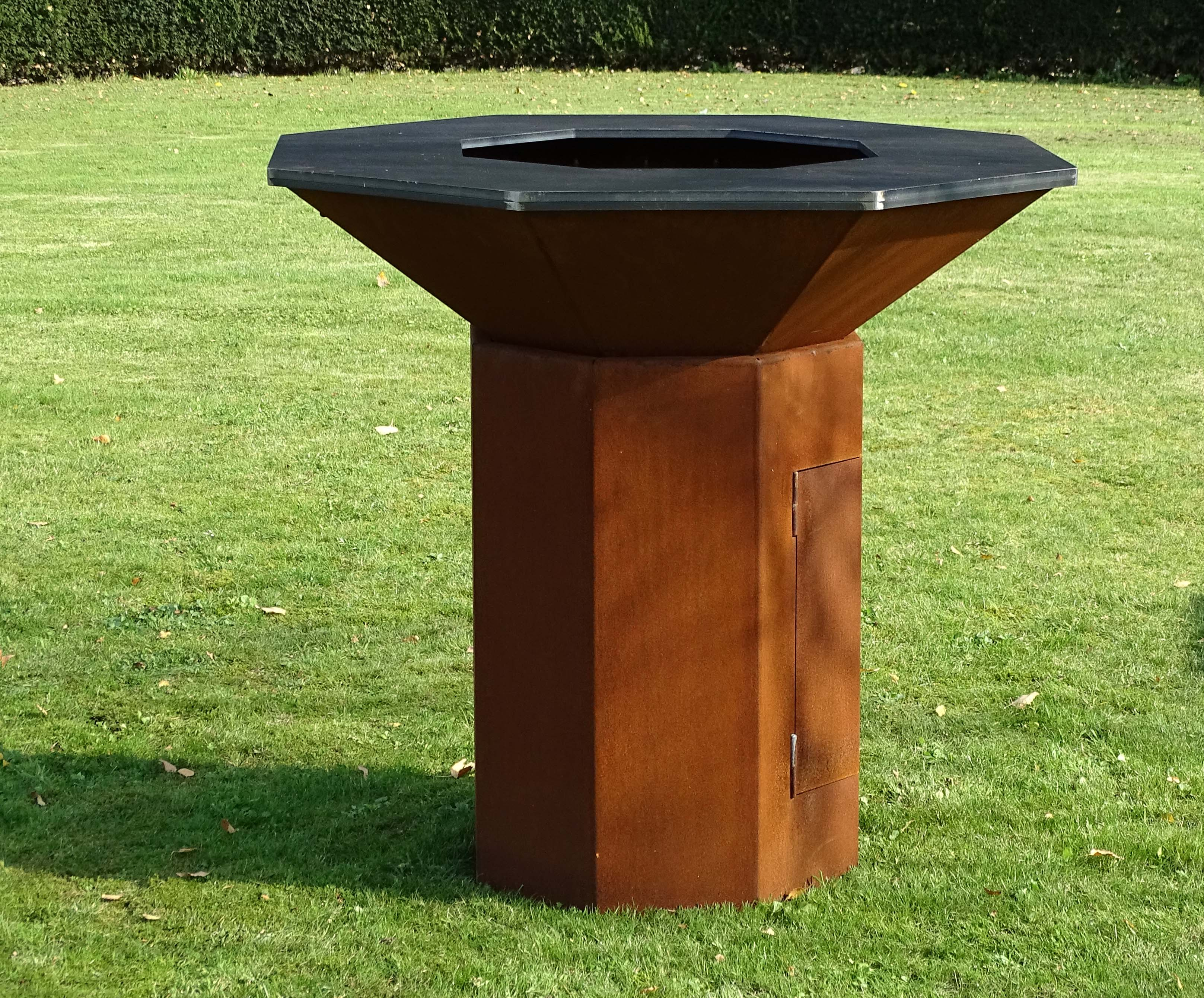 webshop barbecues corten steel bio blaze fireplaces. Black Bedroom Furniture Sets. Home Design Ideas