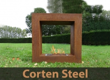 Corten Steel Fireplaces